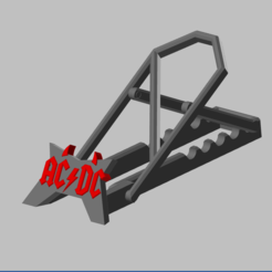 Télécharger fichier imprimante 3D AC/DC Support telephone reglable, Oliv32