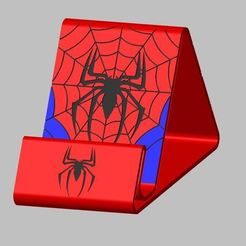 Capture4.JPG Download STL file Spiderman support telephone • 3D printer object, Oliv32