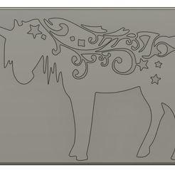 Download 3D printing designs Unicorn Door Art, Crazy3DPrinter