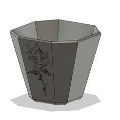RoseBin.JPG Télécharger fichier OBJ Pot de roses ou poubelle • Design pour impression 3D, Crazy3DPrinter