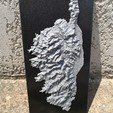 3d print files Corsican map IGN, 3delectroshop