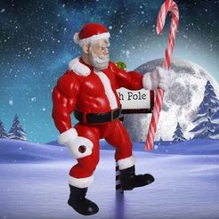 Download 3D printing designs Articulated Badass Santa, 3DPrintGeneral