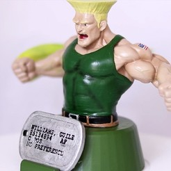 Download 3D printing files Guile from Street Fighter, 3DPrintGeneral