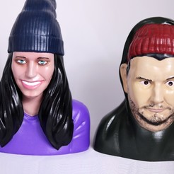 Download 3D printing models H3H3 Busts - Ethan and Hila Klein, 3DPrintGeneral