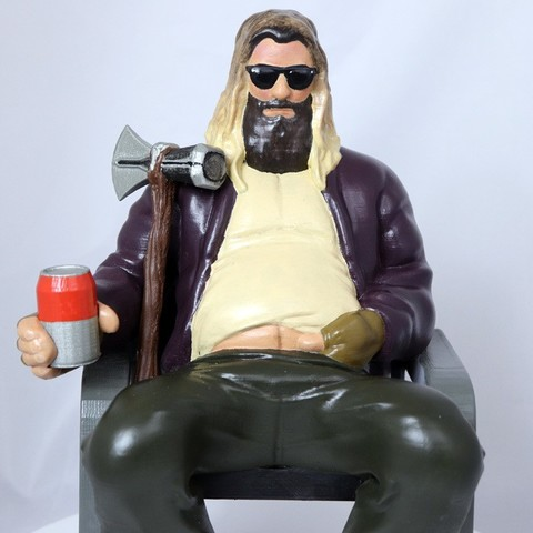 Download 3D printer files Fat Thor from Avengers Endgame, 3DPrintGeneral