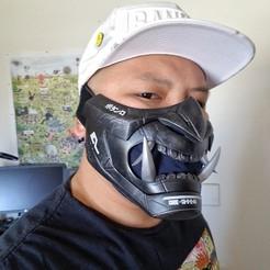 20200806_113049-01.jpeg Download free STL file Oni Cyber Punk Mask • 3D printer model, 3DPrintGeneral