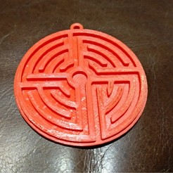 Free 3D printer designs Labyrinth pendant, diazortegafem