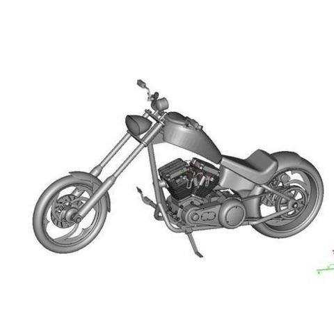 Download free STL file Harley Chopper Motorcycle, maiersbus