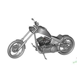 0a39711d1292506c986af3d248c29067_preview_featured.jpg Download free STL file Harley Chopper Motorcycle • 3D print object, maiersbus