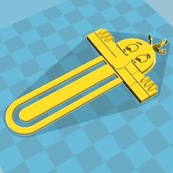 3D printer models Kilroy was Here Bookmark, IdeasZ3D