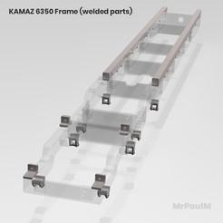 Download free 3D printer templates 𝗥𝗖 𝗧𝗥𝗨𝗖𝗞 𝟴𝘅𝟴 𝗞𝗔𝗠𝗔𝗭 𝟲𝟯𝟱𝟬 𝟯𝗗: 𝗙𝗥𝗔𝗠𝗘 (𝗪𝗘𝗟𝗗𝗘𝗗 𝗣𝗔𝗥𝗧𝗦), MrPaulM
