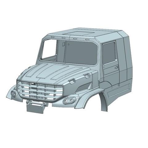 3.jpg Download STL file Kamaz Dakar (Mercedes Zetros) NEW VERSION  cockpit and hood • 3D printable template, MrPaulM
