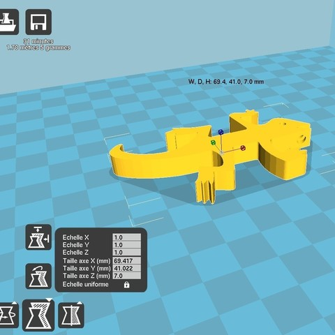 cura lezard.jpg Download free STL file Bottle opener key holder • 3D print template, kermanns