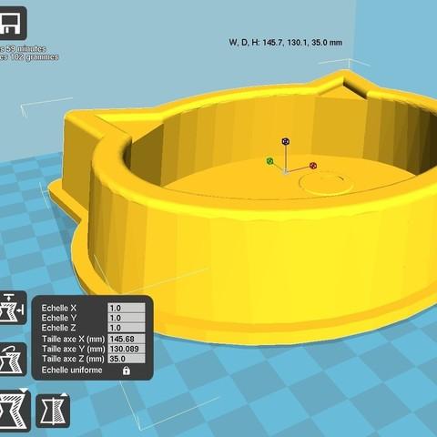 cura.jpg Download STL file Cat bowl • 3D printable design, kermanns
