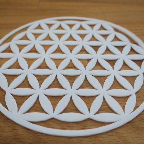 Stl Gratuit Symbole Fleur De Vie Cults