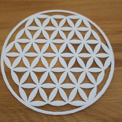 Free 3d printer model Flower of life symbol, kermanns