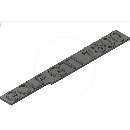 Download free 3D print files Golf Gti 1800 Badge, garagedelile300