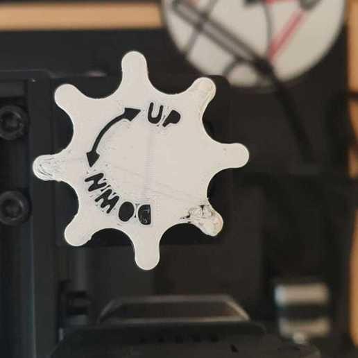 Télécharger plan imprimante 3D gatuit Bouton d'axe Z Geeetech A20M, Manfactory