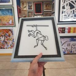 20190911_170623 copia.jpg Télécharger fichier STL gratuit Singe Art mural polyvalent • Objet pour impression 3D, 3dlabaproca