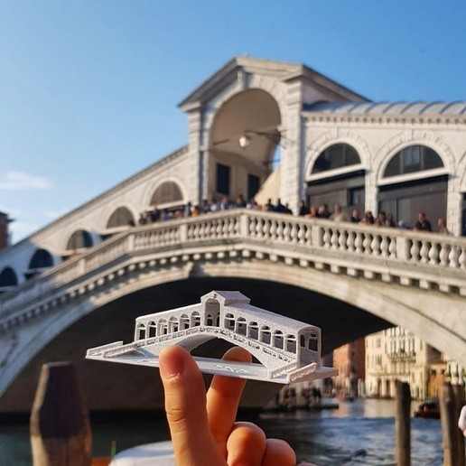 Download free STL file Rialto Bridge from Venice, Italy • 3D printable template, 3dlabaproca