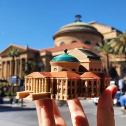 Télécharger fichier imprimante 3D gratuit Théâtre Massimo - Palerme Miniworld, 3dlabaproca