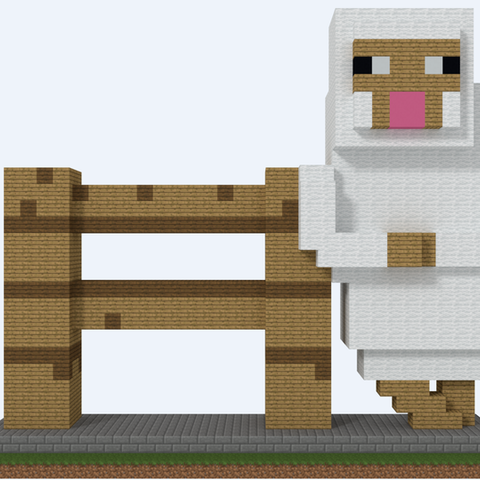 sheep2.png Download STL file Sheep Fence • Template to 3D print, Petes
