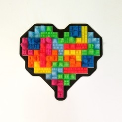3e8453c99825fa3dc0ff5094f0f54b87_preview_featured.jpg Download free STL file Tetris Heart Puzzle • Design to 3D print, ferjerez3d