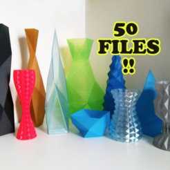 Free 3d printer designs Vasemania: Low poly vases, ferjerez