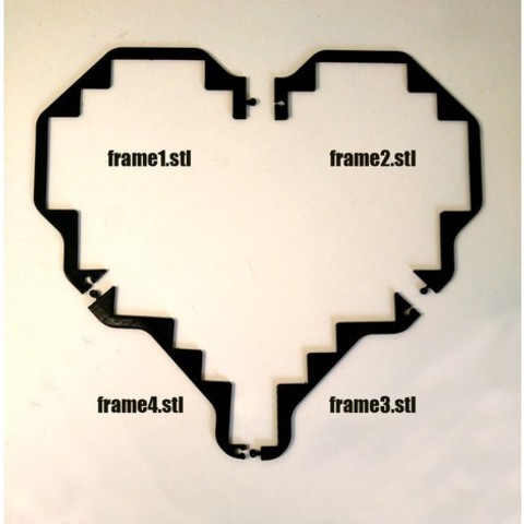a636cbbc3cd925c1af0c76d853949776_preview_featured.jpg Download free STL file Tetris Heart Puzzle • Design to 3D print, ferjerez3d