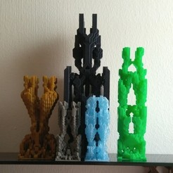d0ea8cf7e33f644bb18d575bc2d05464_preview_featured.jpg Download free STL file Conway's World #1: Towers • 3D printer model, ferjerez3d