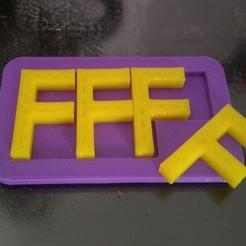 Download free STL files F - Puzzle, ferjerez3d