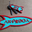 Free STL Customizable Futurama Rocket With Alien Text, ferjerez3d