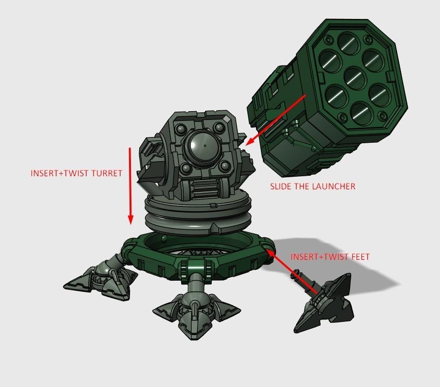 Screenshot_3.jpg Download STL file SAM Rocket Launcher Penholder • Model to 3D print, ferjerez3d
