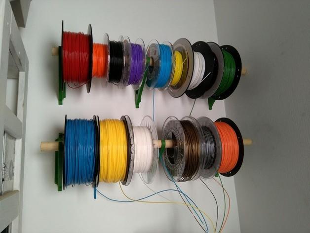 53726f5818a7d95e448cdbffb52249cb_preview_featured.jpg Télécharger fichier STL gratuit Filament Spool Wall Mount + Hub • Plan imprimable en 3D, ferjerez3d