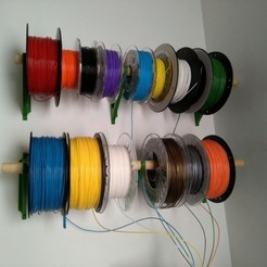 Free 3d printer model Filament Spool Wall Mount + Hub, ferjerez