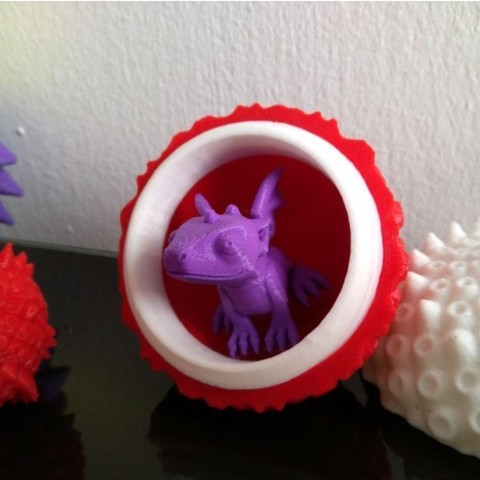 aabc72ea6444b2538cb363e4c7fc57c1_preview_featured.jpg Download free STL file Dragon Egg Boxes • 3D print object, ferjerez3d