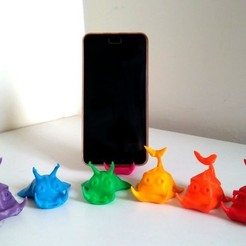 Free STL files Cute Fishes - Phone Stand / Card Holder, ferjerez3d