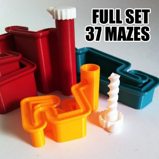 Download 3D printer templates Procedural Marble Maze Full-Set , ferjerez3d