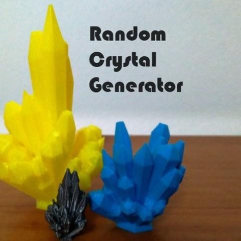 Télécharger plan imprimante 3D gatuit Générateur de cristaux aléatoires, ferjerez3d