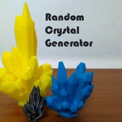 Free 3d printer model Random Crystal Generator, ferjerez