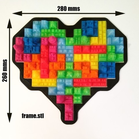 c2ae5f5a4d333d0d6853543ddb70d257_preview_featured.jpg Download free STL file Tetris Heart Puzzle • Design to 3D print, ferjerez3d