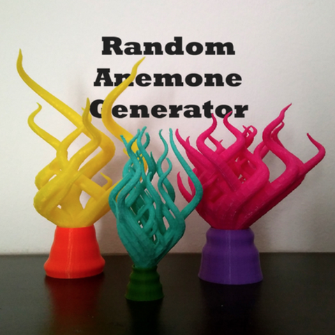 Télécharger fichier 3D gratuit Plastic Reef #1 : Générateur d'anémone aléatoire, ferjerez3d