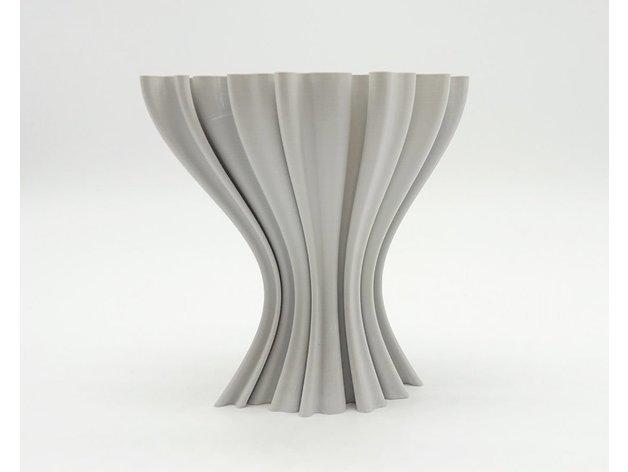 47d96ca8411f3f2d2658af7040bec967_preview_featured.jpg Download free STL file Wavy vase • 3D printer design, ferjerez3d