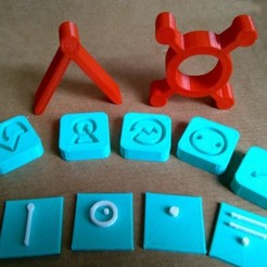 Download free 3D printer designs Futurama Alien Alphabet, ferjerez3d