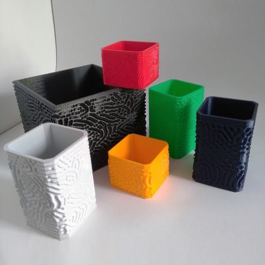 Descargar STL Colección de cajas orgánicas, ferjerez3d