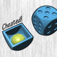 Download free 3D printing designs Cheated Dice, ferjerez3d