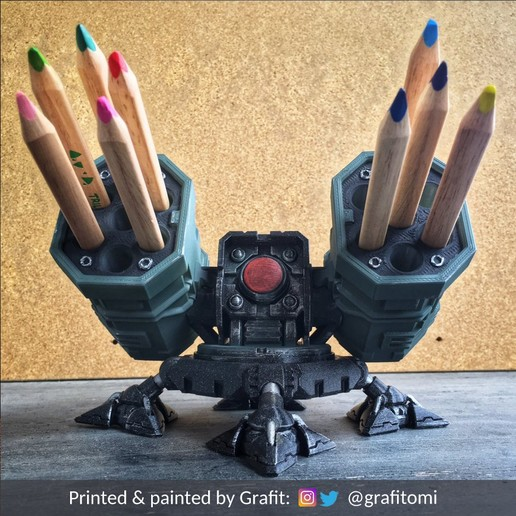 Download 3D printing templates SAM Rocket Launcher Penholder, ferjerez3d