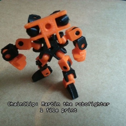 Download free 3D printer files ChainClip. Martin the robofighter , ferjerez3d