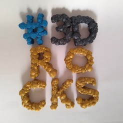 Download 3D printer designs Rocky Alphabet, ferjerez3d