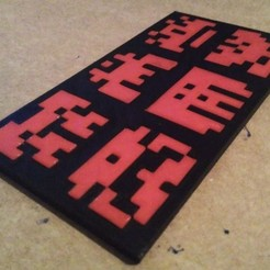Free 3D printer designs Space Invaders Fleet Generator, ferjerez3d